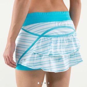 Lululemon RARE Blue and White Skirt